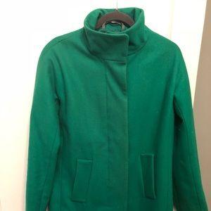 J Crew Factory Green City Coat